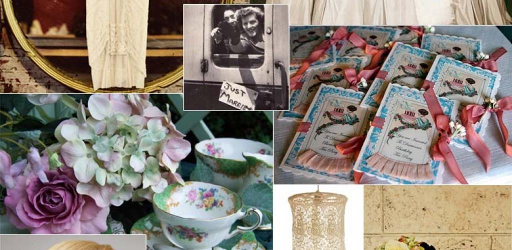 Vintage wedding theme inspiration