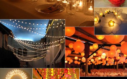 Romantic wedding lighting ideas