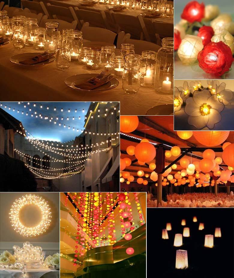 Romantic Wedding Themes: Romantic Wedding Lighting Ideas