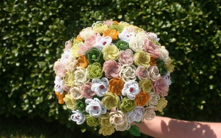 Handmade beaded wedding bouquets to die for!