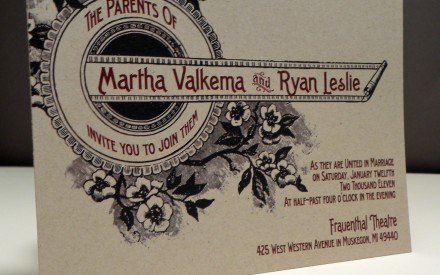 Vintage Floral Marquis Wedding Invitation