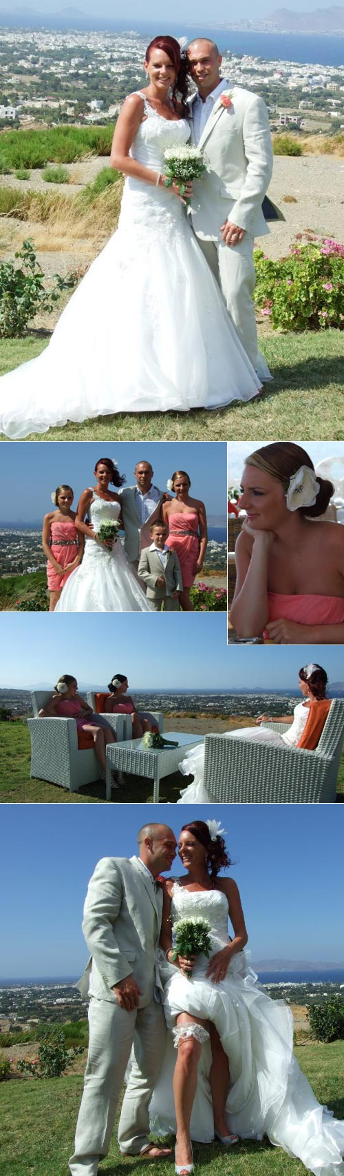 Emma & Rich - real wedding in Kos, Greece, 2010