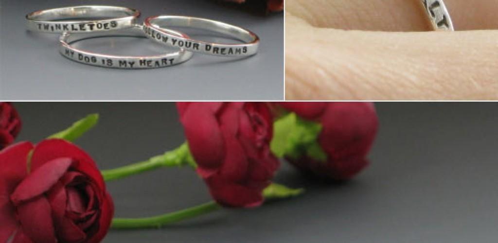 Posie wedding rings by Kathryn Riechert