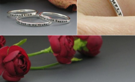 Posie wedding rings by Kathryn Riechert