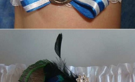 Handmade garters by Lawless Fairy