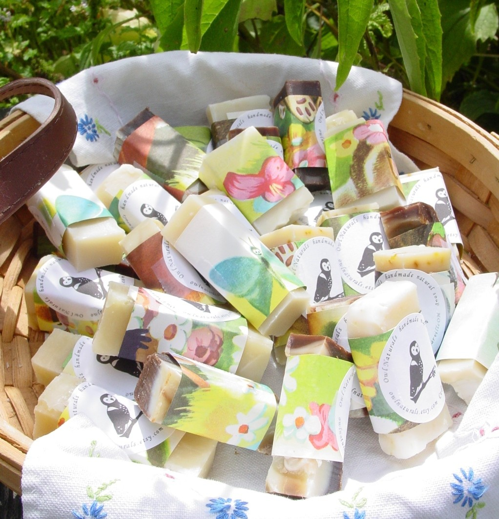 100 Cheap Wedding Favour Ideas For Under 1 Each: Handmade Soap Wedding Favours Wrapped In Vintage Childrens