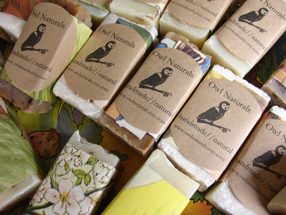 handmade soap favours under £1 each