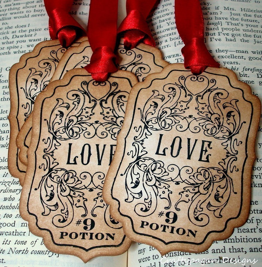 love potion vintage labels by craftypagan