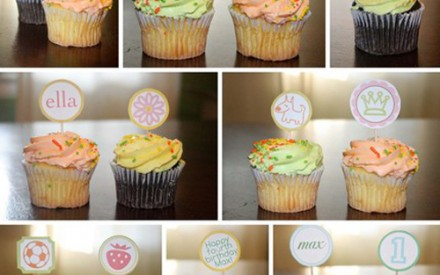 Print your own personalised cupcake toppers by theprettypaperie