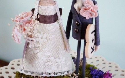 The cutest handmade custom cake toppers by Milk Tea