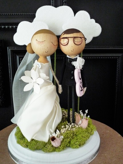 The Cutest Handmade Custom Cake Toppers By Milk Tea Real