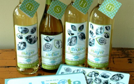 Custom designed wine bottle labels by Small Creatures