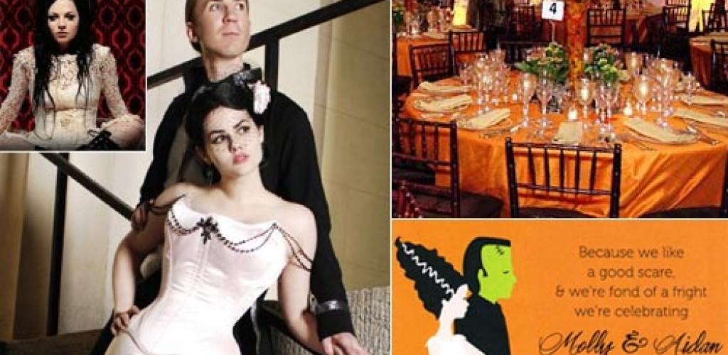 A spooky halloween wedding theme