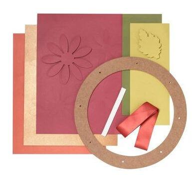 Paper Source Mums Wreath - supplies