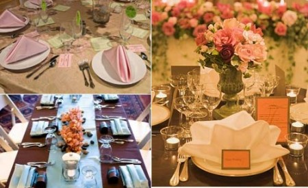 More gorgeous wedding reception table layouts