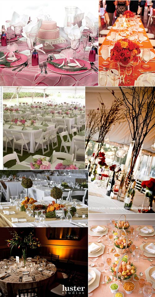 Yet more wedding reception table layouts to inspire you