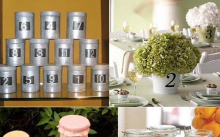Ideas for wedding reception table numbers and names