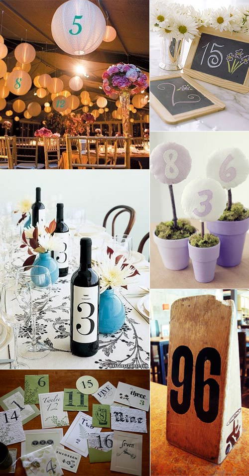 Wedding reception table numbers & name inspiration | Real Wedding