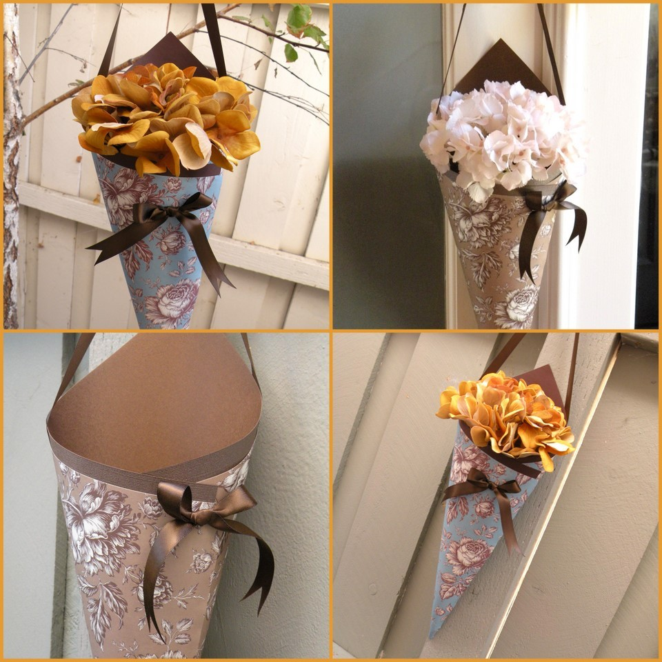 wedding decor cones flowers vases