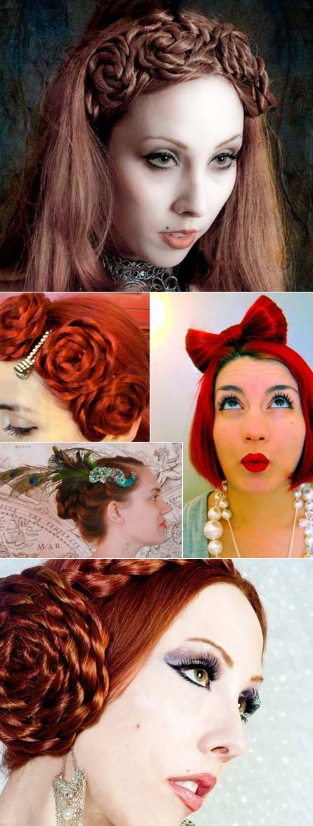 Real hair pieces by Puppy Cat Meow on Etsy.com