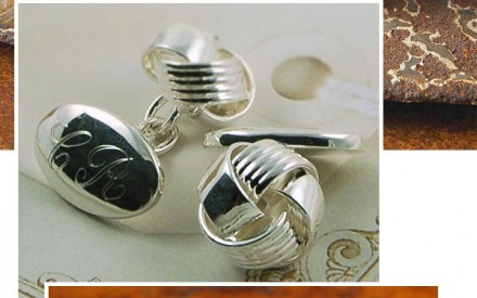 Classy but quirky wedding cufflinks