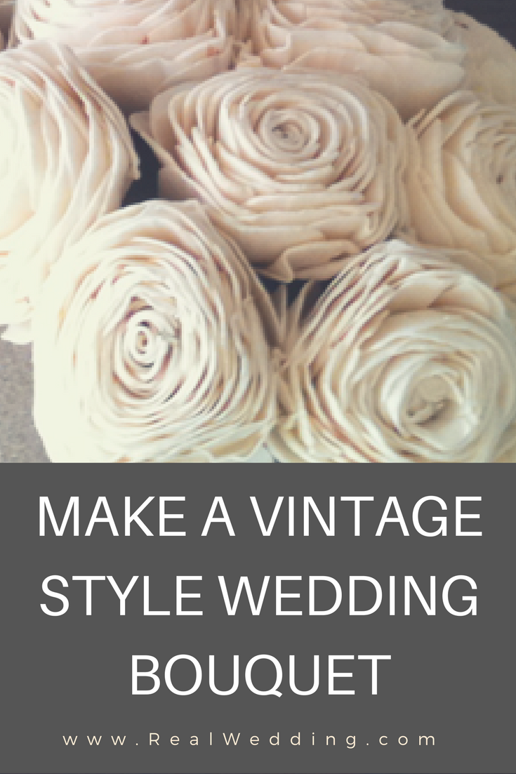 Make A Vintage Style Wedding Bouquet Real Wedding
