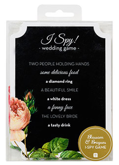 I Spy Game wedding favours under £1 realwedding.co.uk