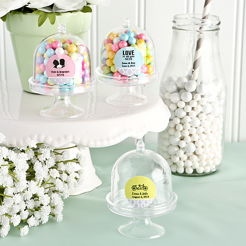 mini cake domes wedding favours under £1 realwedding.co.uk