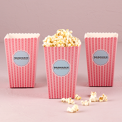 Popcorn cartons wedding favours under £1 realwedding.co.uk