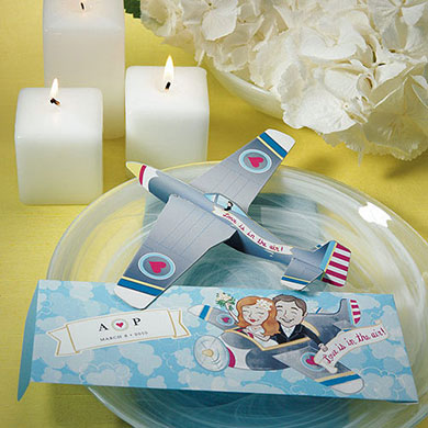 Love is in the air personalised gliders wedding favours realwedding.couk