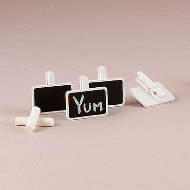 Chalkboard Peg Wedding Favours under £1 realwedding.co.uk