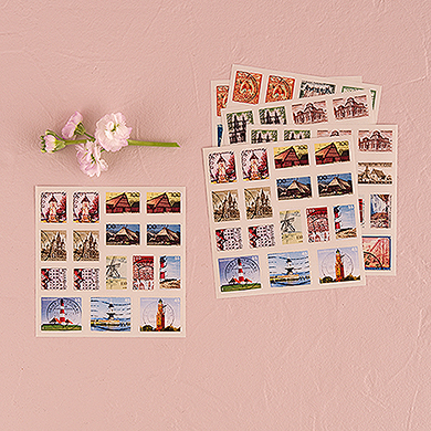 Postage Stamp Sticker Set wedding favours ideas under £1 realwedding.co.uk