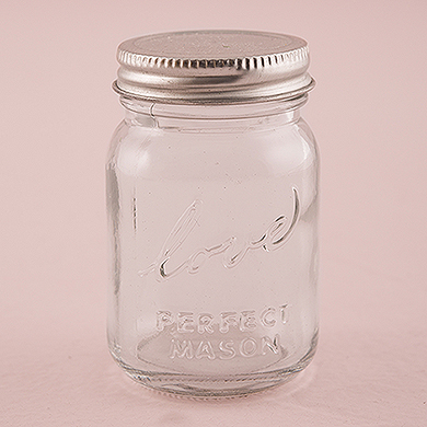 Mini mason jars wedding favours under £1 realwedding.co.uk