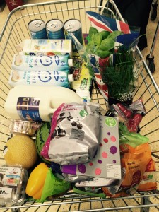 Lovely trolley full of fruit and veg ready for the C9 programme