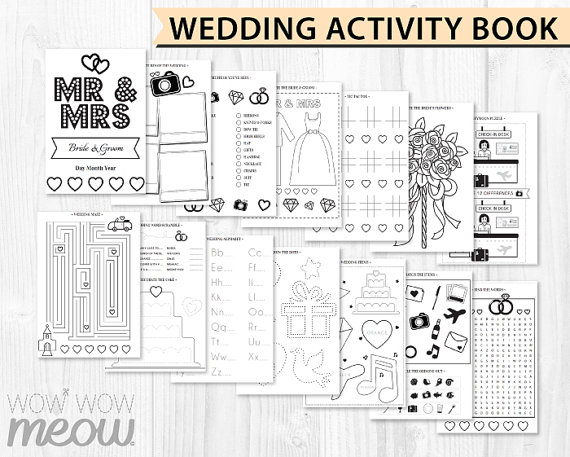 Printable kids wedding favour colouring book under £1 realwedding.co.uk