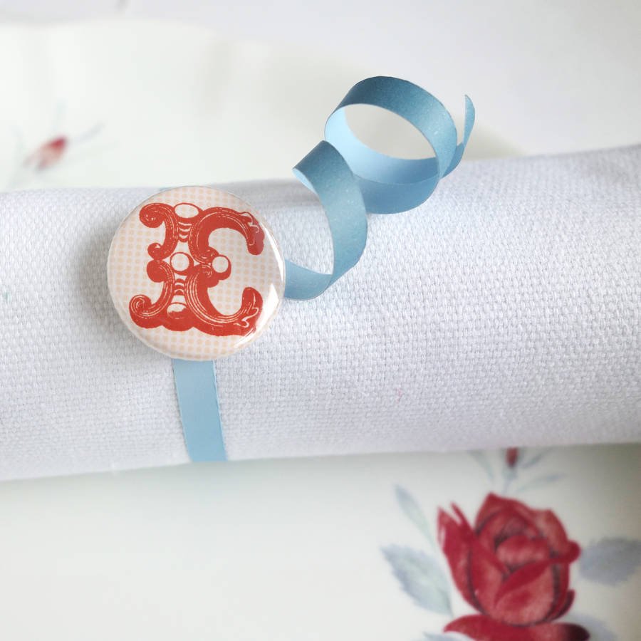 Alphabet intial personalised wedding favour under £1 realweding.co.uk