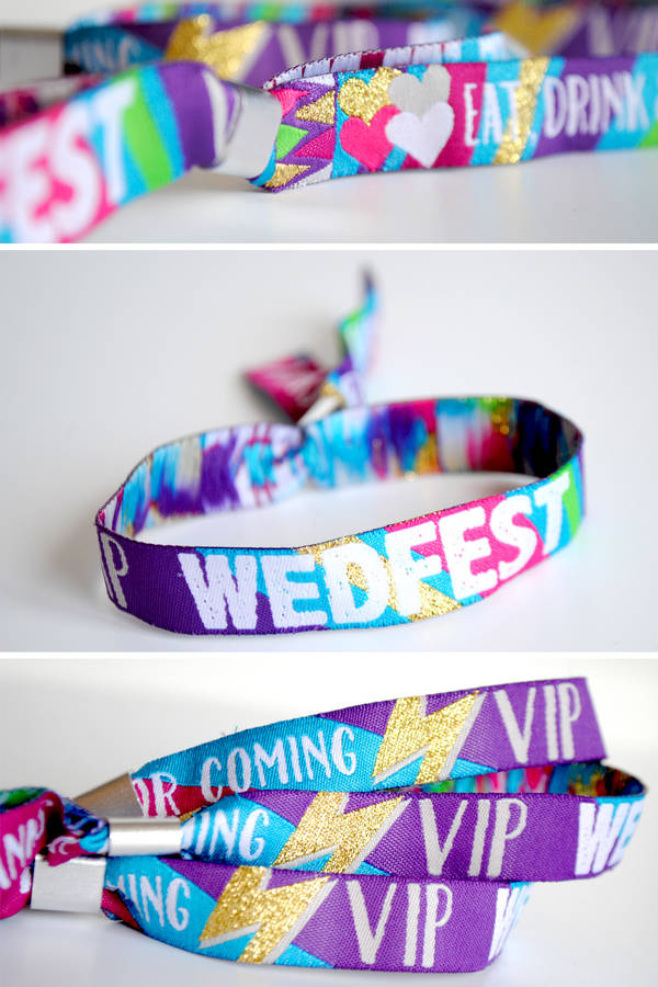 wedfest festival wedding wristbands wedding favours under £1 realwedding.co.uk