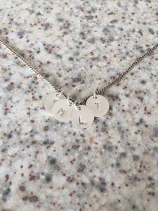Personalised sterling silver necklace by givable.co