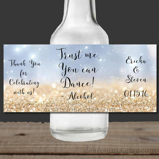 Booze Bottle Labels wedding favours | Cheap wedding favours under £1 | realwedding.co.uk