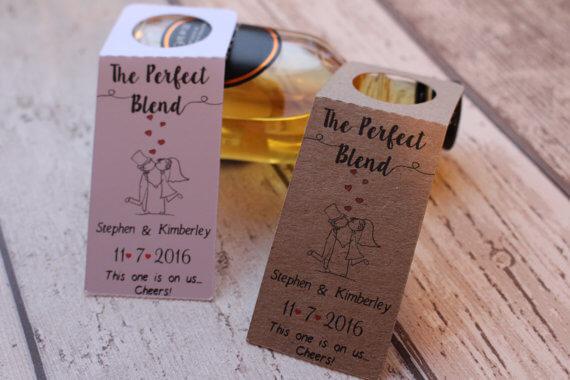 Booze Labels wedding favours | Cheap wedding favours under £1 | realwedding.co.uk