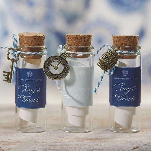 Bottle with Cork wedding favours | Cheap wedding favours under £1 | realwedding.co.uk