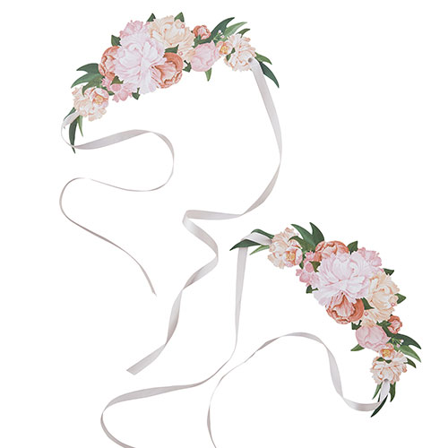 Flower Paper Tiaras wedding favours | Cheap wedding favours under £1 | realwedding.co.uk