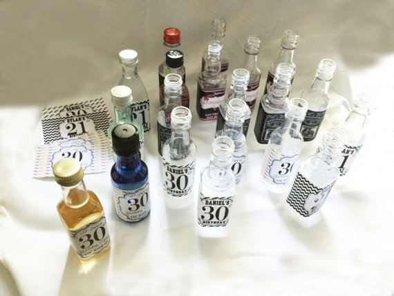 Mini Booze Bottles wedding favours | Cheap wedding favours under £1 | realwedding.co.uk