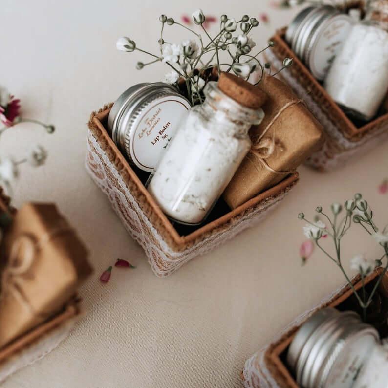 Unusual & Personalised Wedding Favour Ideas l Petite Pamper Pots Handmade Wedding Favours