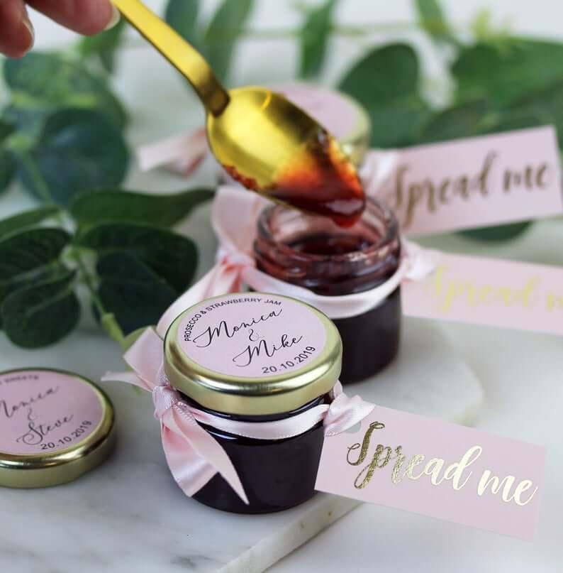 Unusual & Personalised Wedding Favour Ideas Personalised Jam Wedding Favours