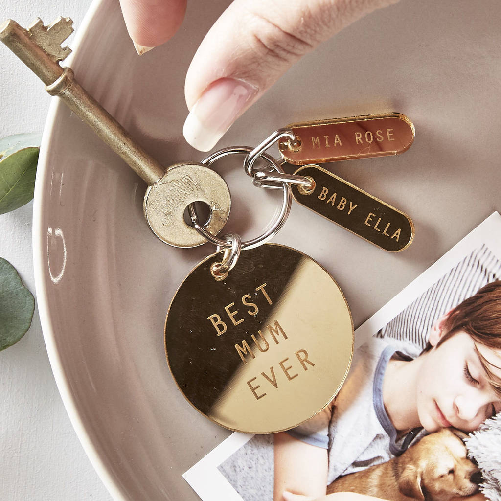 Unusual & Personalised Wedding Favour Ideas l Mirror Charm Keyring