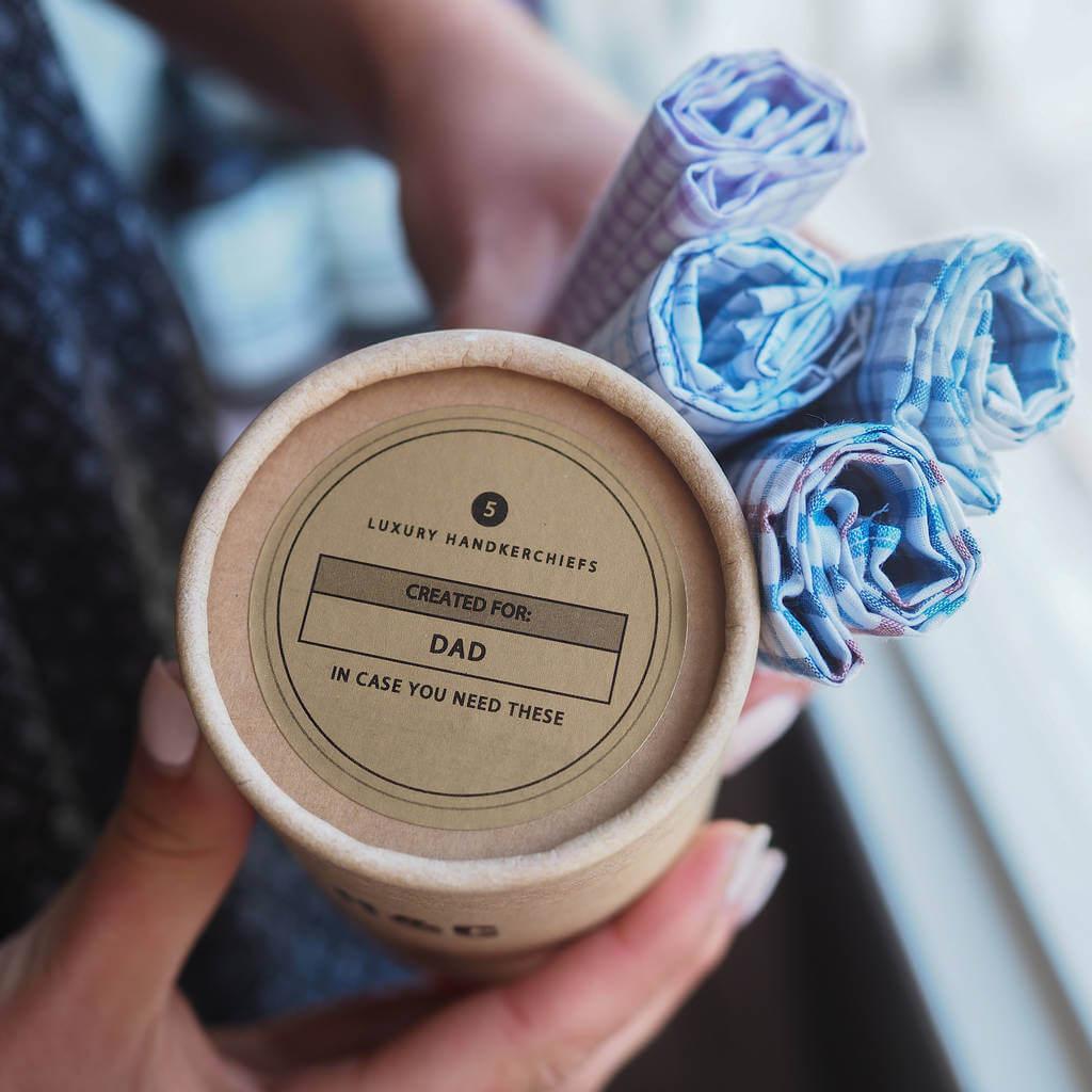 Unusual & Personalised Wedding Favour Ideas l Personalised Set Of Five Handkerchiefs