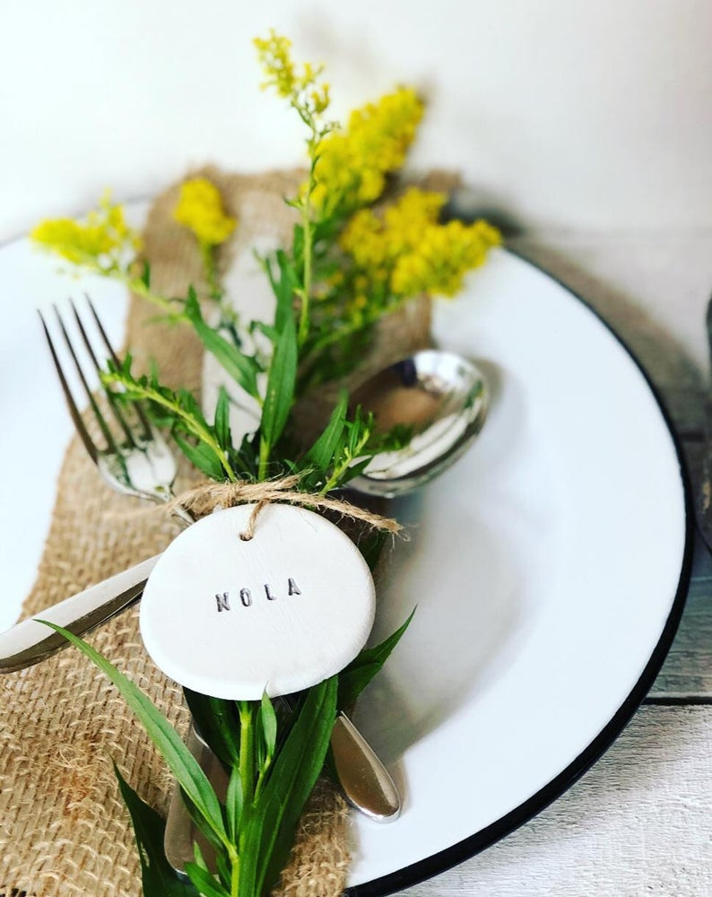 Unusual & Personalised Wedding Favour Ideas l Handmade Table Place Names