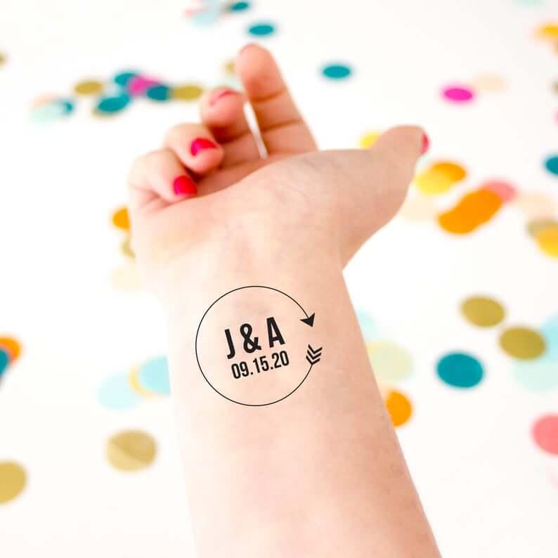 Unusual & Personalised Wedding Favour Ideas l Custom Wedding Tattoos
