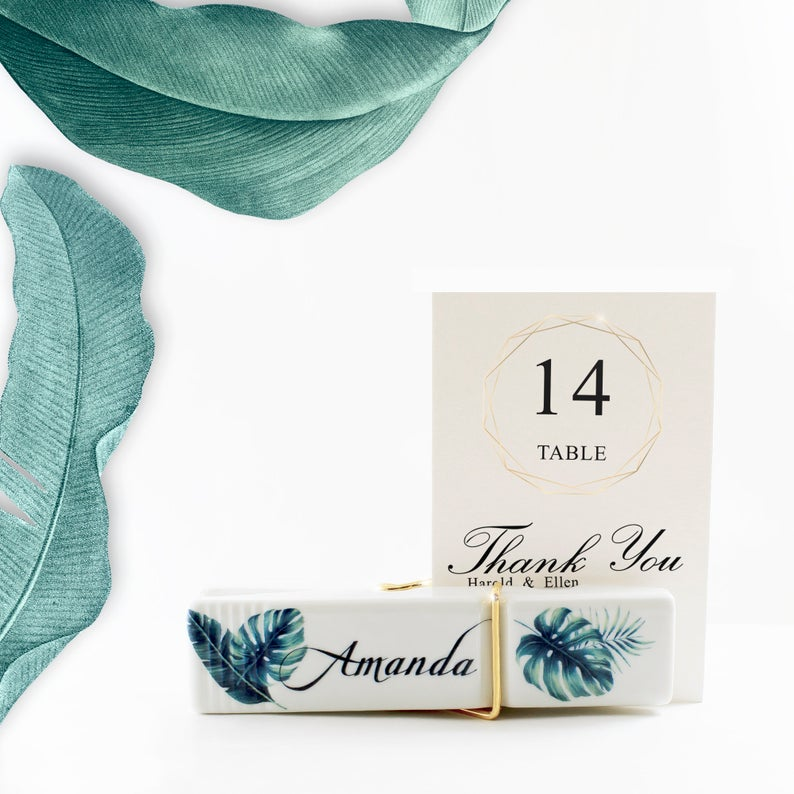 Unusual & Personalised Wedding Favour Ideas l Hand Stamped Tie Clip Bar
